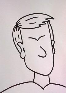 wütendes Gesicht zeichnen - tiefe Augenbrauen nach unten