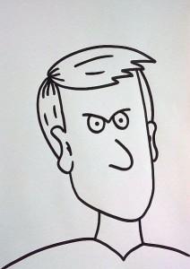 wütendes Gesicht zeichnen - starrer Blick