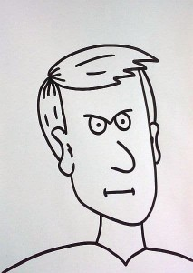 wütendes Gesicht zeichnen - schmale Lippen
