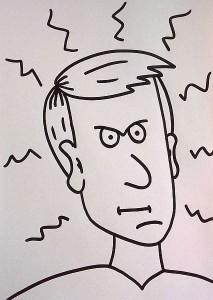 wütendes Gesicht zeichnen - Ausschmückungen