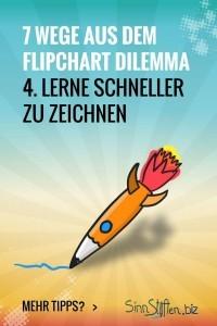 Bist du hin- und hergerissen zwischen deinem Publikum und dem Flipchart? Dann gibt es hier 7 Wege aus dem Flipchart Dilemma während deiner Präsentation. Lerne schneller zu zeichnen.