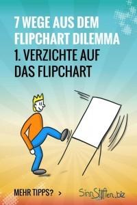 Bist du hin- und hergerissen zwischen deinem Publikum und dem Flipchart? Dann gibt es hier 7 Wege aus dem Flipchart Dilemma während deiner Präsentation. Dann verzichte doch einfach mal auf das Flipchart und fokussiere nur auf dein Publikum.