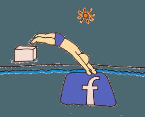 Sprung nach Facebook