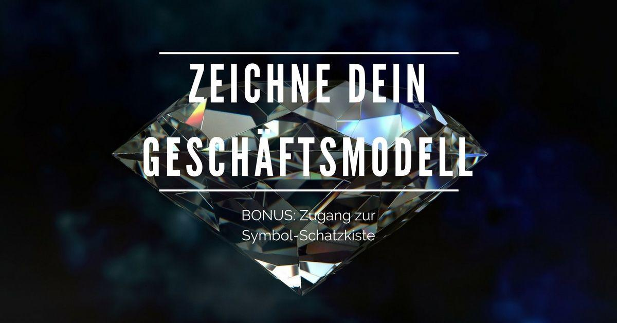Zeichne Dein Geschaeftsmodell - Business Model Canvas