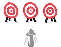 Mit einem Pfeil kannst du keine 3 Ziele treffen