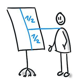 Wichtig für deine Flipchart Präsentation: Stelle dir das Flipchart auf die richtige Höhe ein.