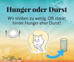 Abnehmen-Hunger-ist-manchmal-Durst