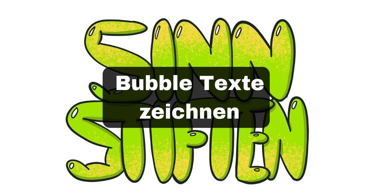 Bubble Texte zeichnen