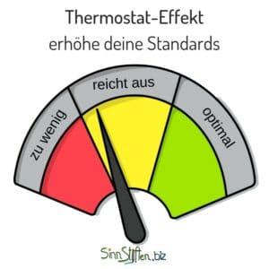 Coaching Karten - Thermostat-Effekt - erhöhe deine Standards