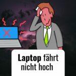 Der Laptop fährt nicht hoch – Kein Fiasko dank Flipchart